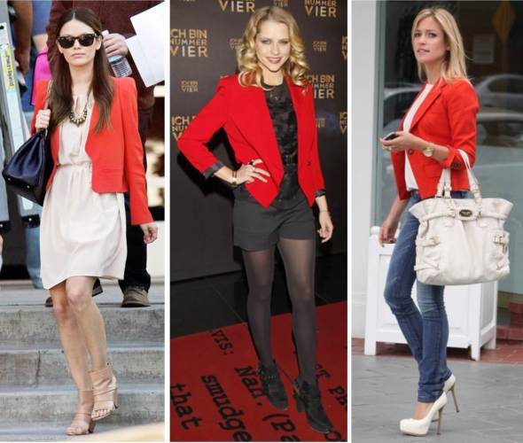 Look for Less ~ Red Blazer