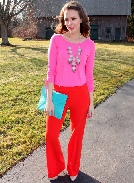 4 Ways To Wear: Red Trousers