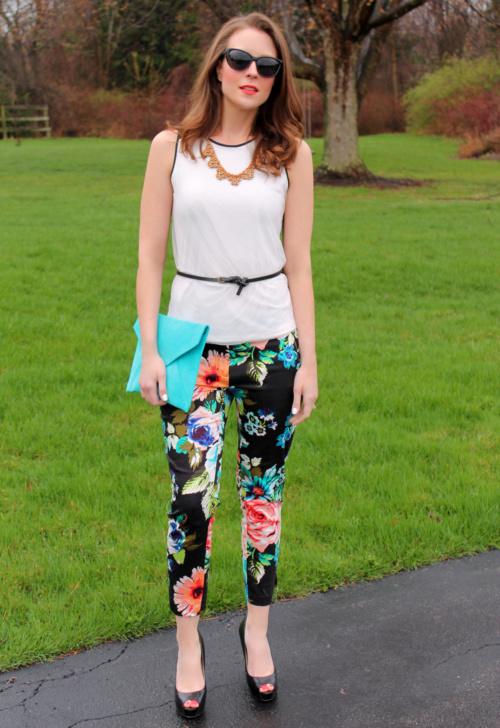 4 Ways to Wear ~ Floral Pants