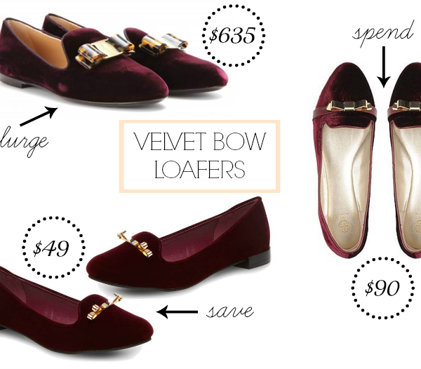 Look for Less: Velvet Loafers