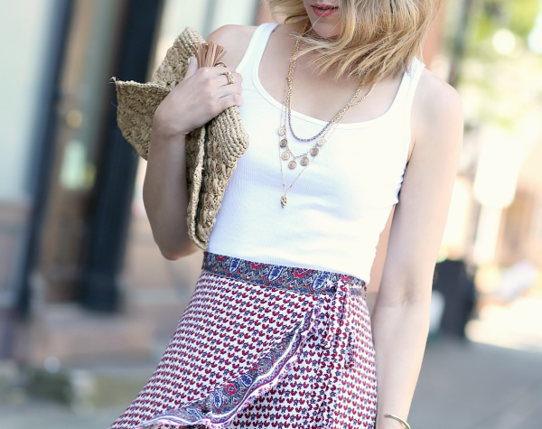Ruffled Wrap Skirt