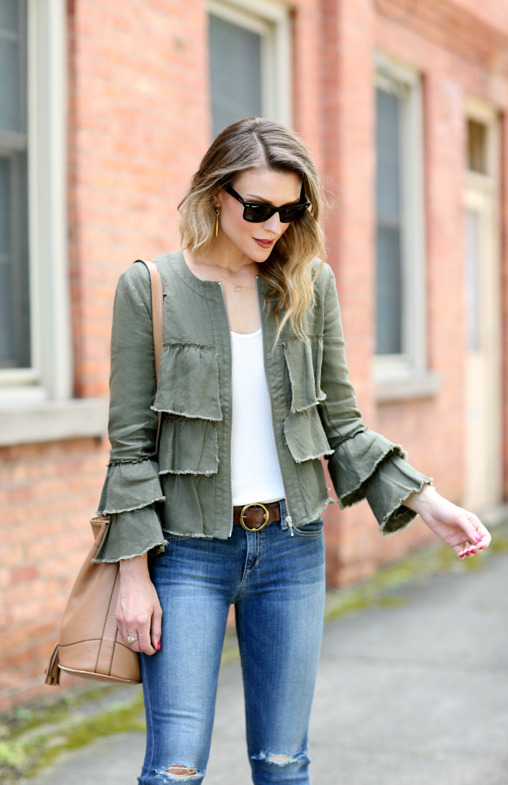 INC Ruffled Jacket