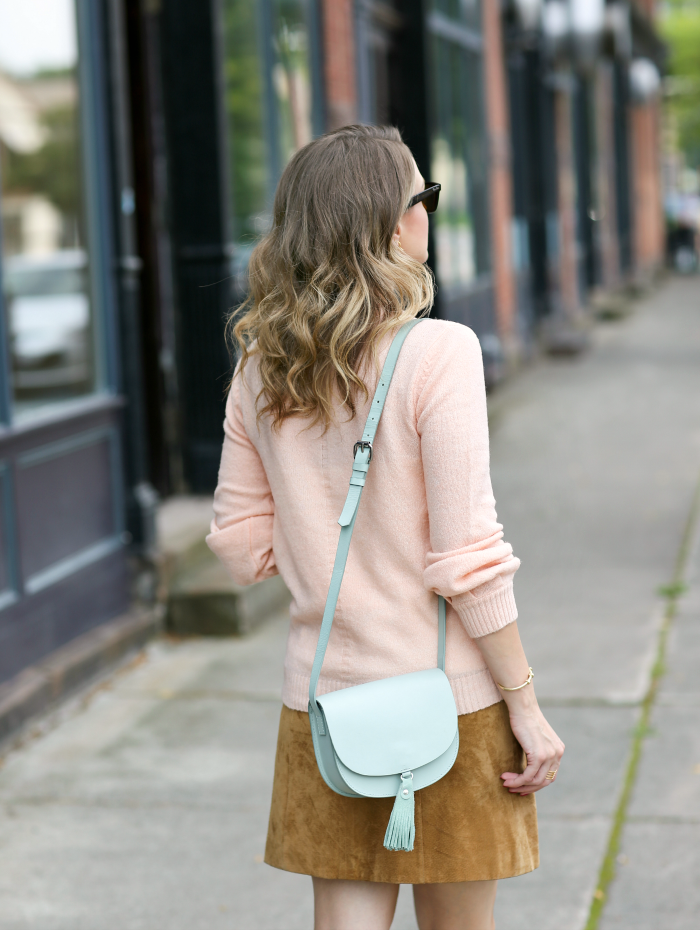 mint leather bag