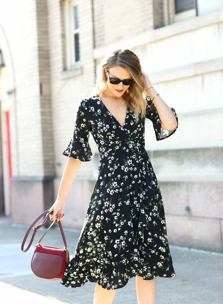BooHoo Floral Wrap Dress