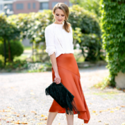 H&M Satin Skirt