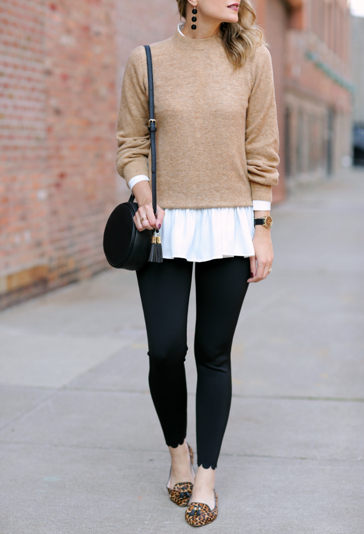 scalloped leggings