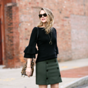 LOFT Modern Button Skirt