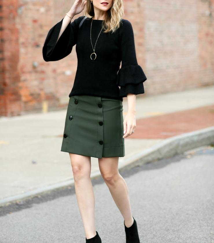 LOFT Buttoned Skirt