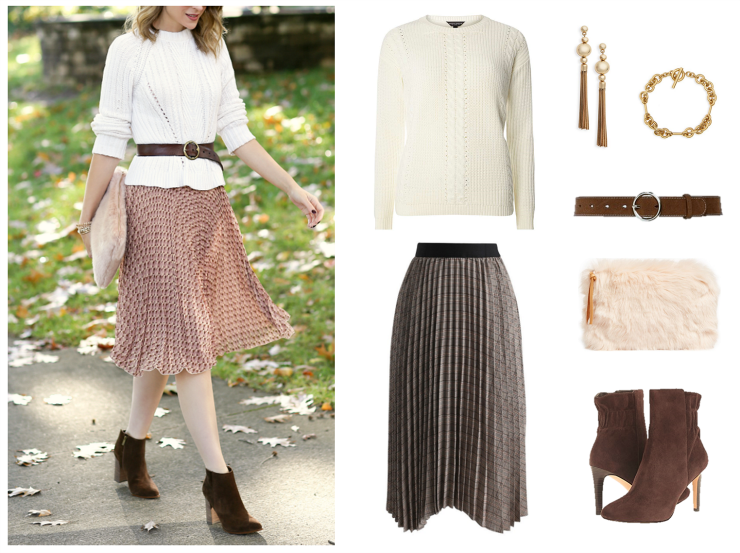 fall midi skirt outfit