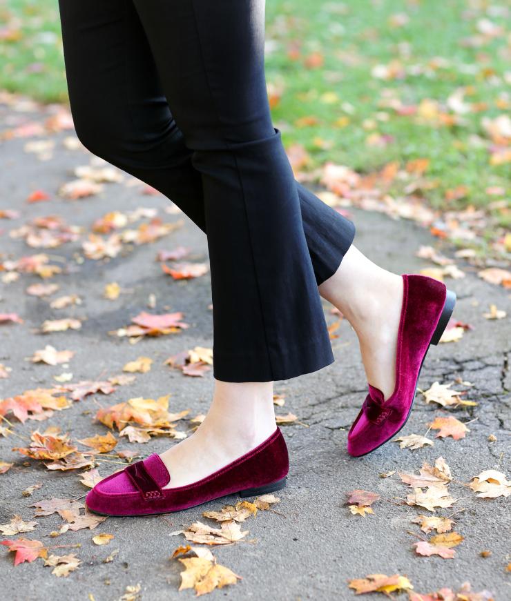 Shoe Carnival Velvet Loafers