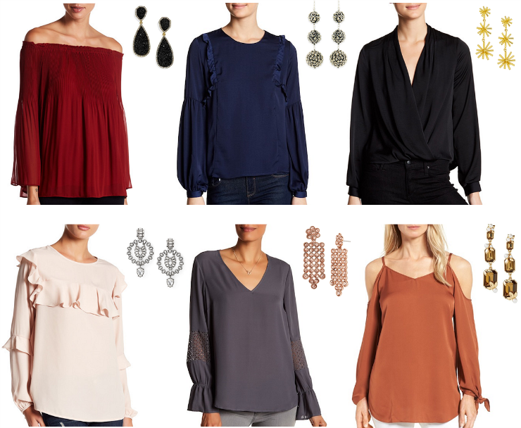 blouse & earrings combinations