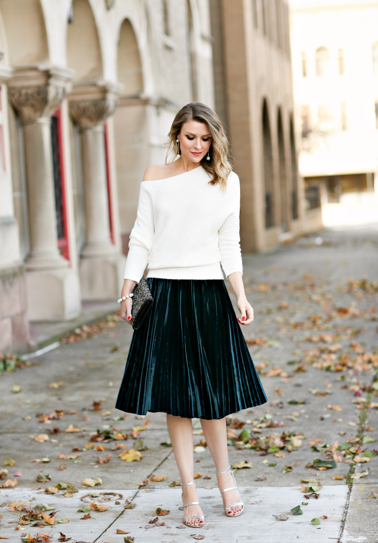 Chaps pleated skirt
