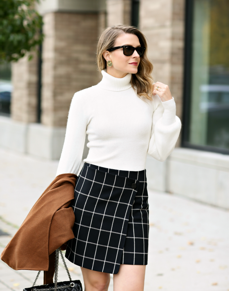 LOFT Windowpane Skirt