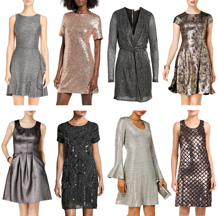 metallic holiday dresses