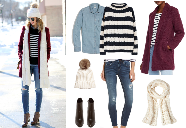 winter layered outfit