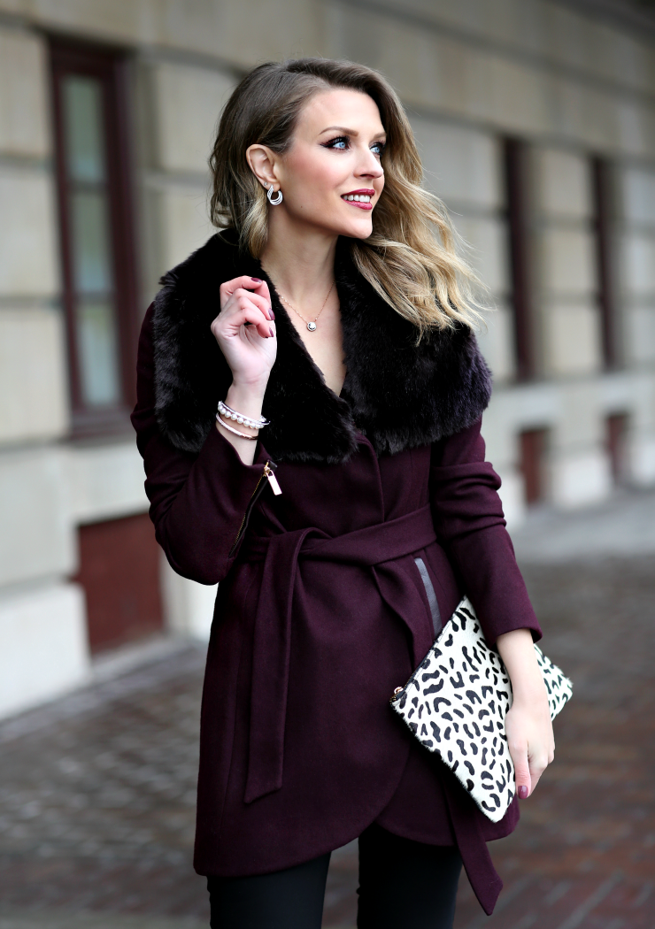 French Connection Wrap Coat