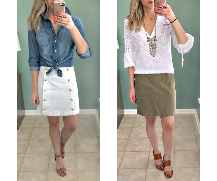 a-line skirt outfits