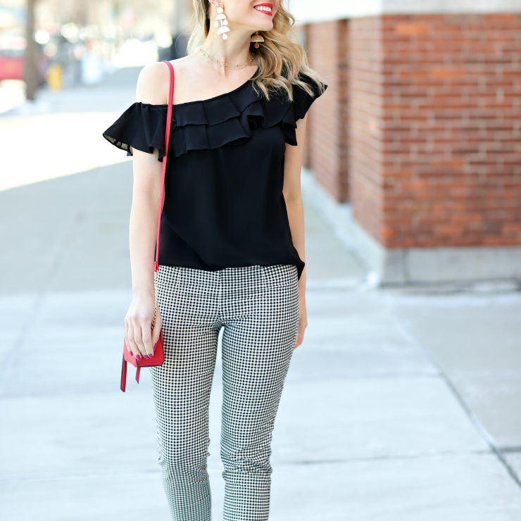 JCPenney gingham pants