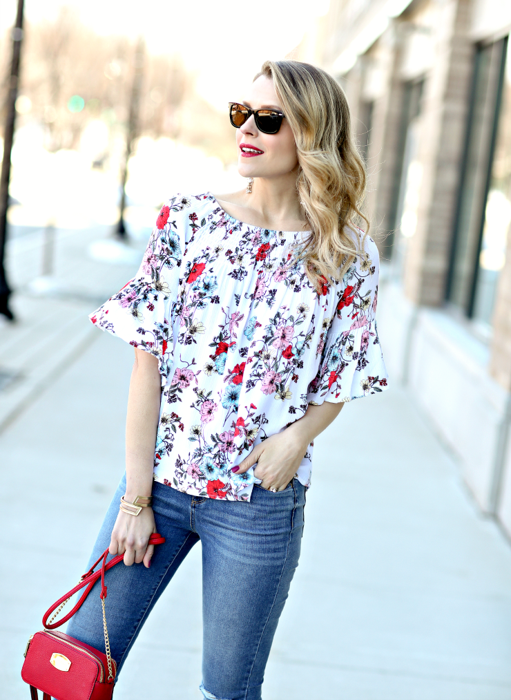 JCPenney floral top