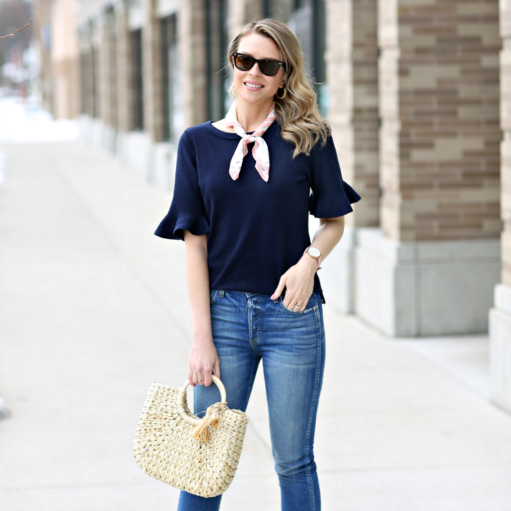 Joseph A Navy Sweater