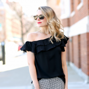 ana ruffled one-shoulder top