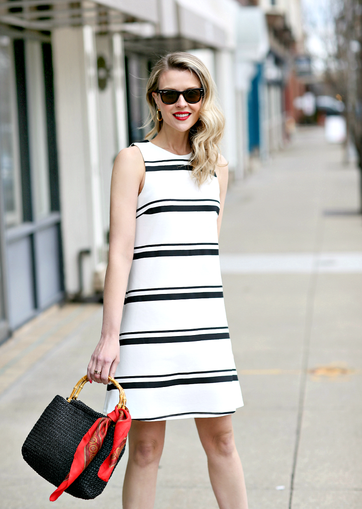 K by Kersh Striped Dress