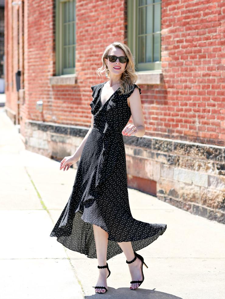 Max Studio Ruffled Wrap Dress