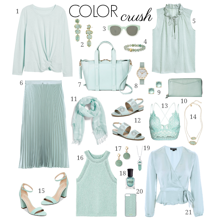 mint green favorites