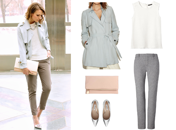 pastel trench
