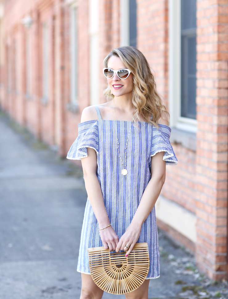 striped seersucker dress