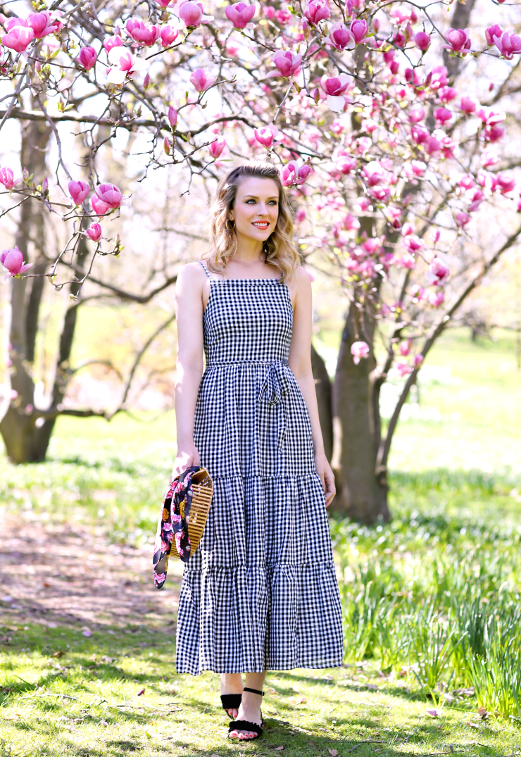 Old Navy Gingham Maxi Dress