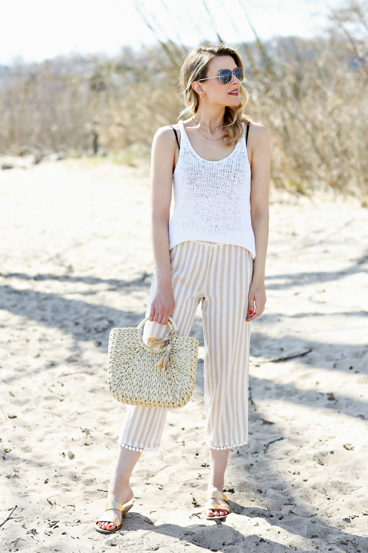 Pom Pom Trim Beach Pants