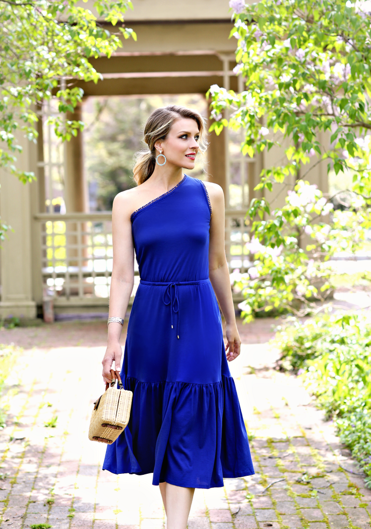 Ralph Lauren One Shoulder Dress