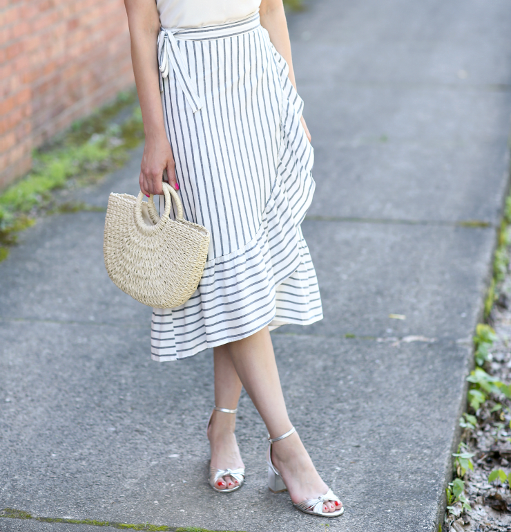 ruffled striped skirt