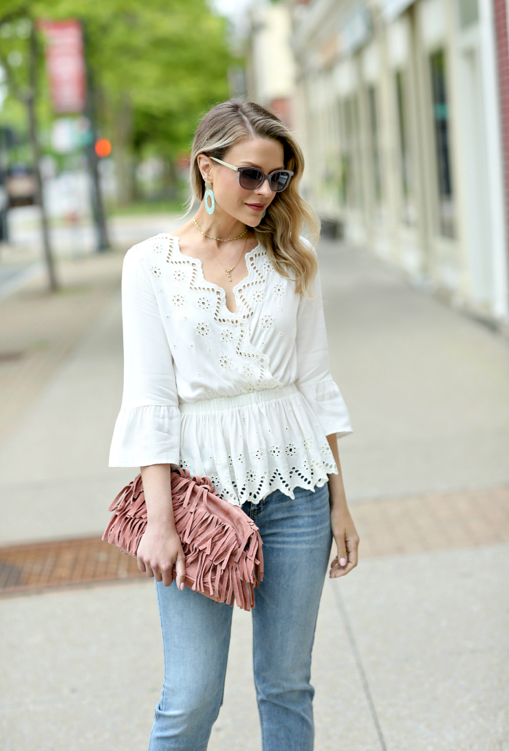 white eyelet blouse