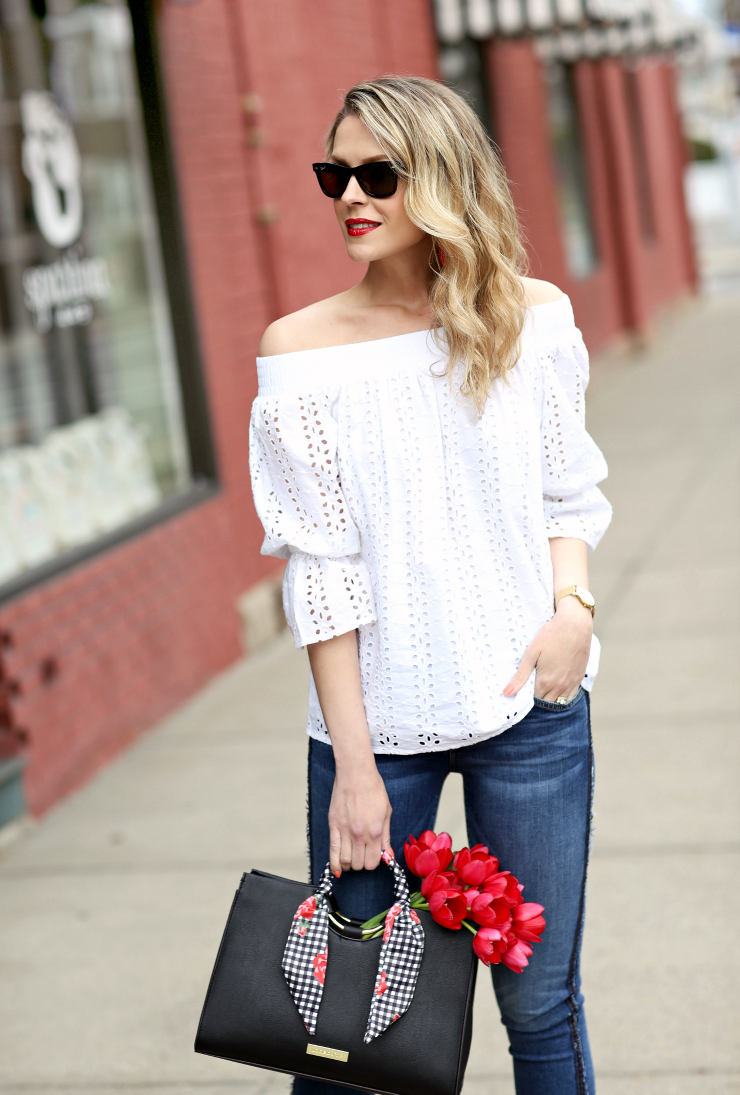 a.n.a off-the-shoulder top