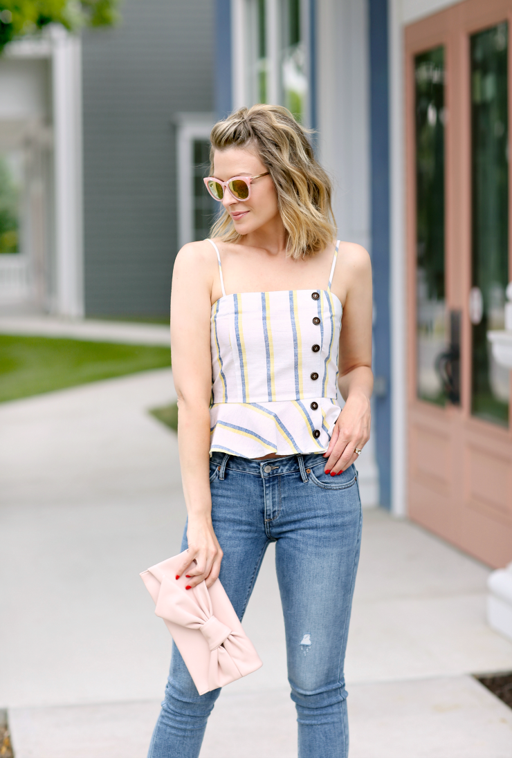 buttoned camisole