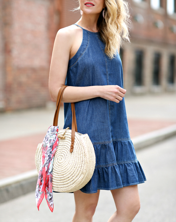 little denim dress