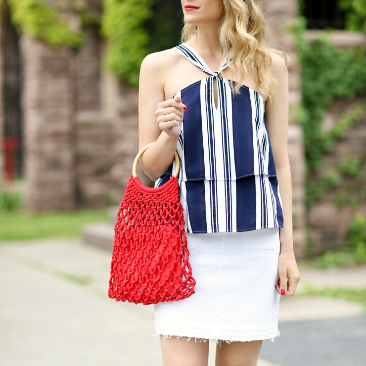 red, white & blue outfit