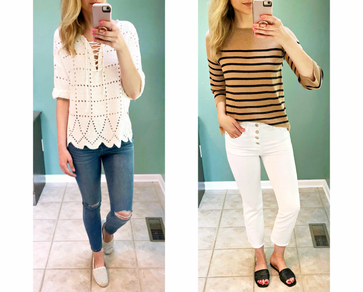 spring sweater outfits