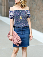 3 Ways To Wear: Denim Skirt