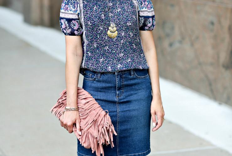3 Ways To Wear: Denim Skirt