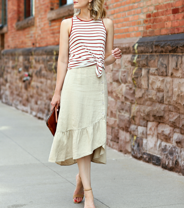 Sanctuary linen skirt
