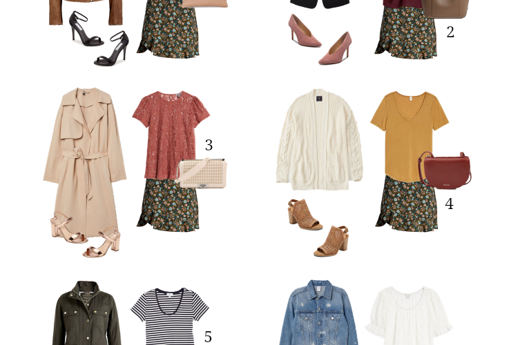 6 Ways To Wear: Floral Skirt