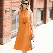 leopard jacquard dress