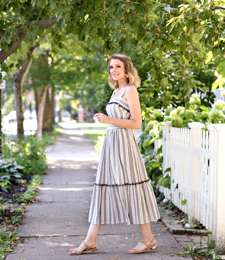 Maggy London Striped Maxi