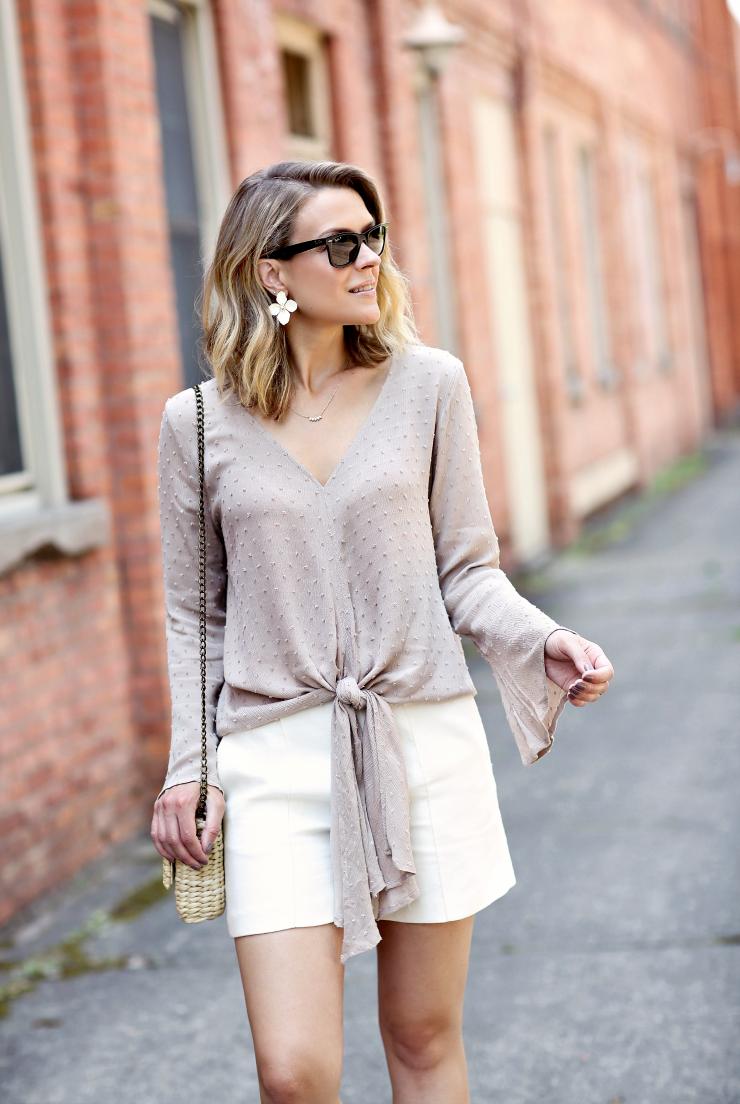 swiss dot blouse