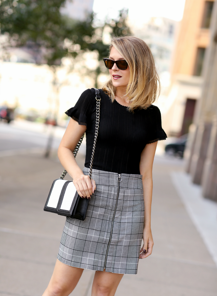 INC Plaid Skirt