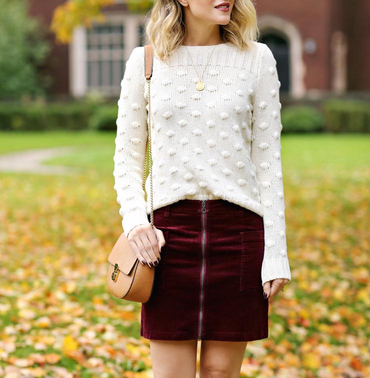 1.State Corduroy Skirt