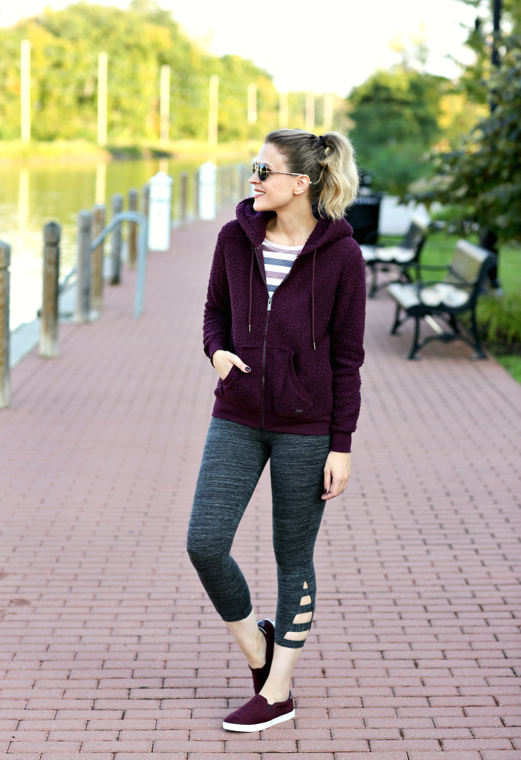 fall athleisure look